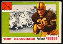 1955 Topps All-American Football- #59 Doc Blanchard RC, Army