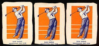 1952 Wheaties- Sam Snead- Golf (Action Pose)- 3 Cards