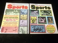 "1974 G.C. London Publishing Corp. ""Sports Review Great Moments in Sports"" Magazines- 2 Diff."