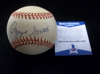 Autographed Ozzie Smith Official NL MLB Bsbl.- Beckett Certified