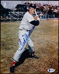 "Autographed Ted Williams Boston Red Sox MLB Color 8"" x 10"" Photo- Beckett Certified"