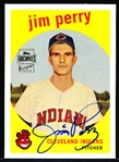 "2001 Topps Archives Bsbl. ""Rookie Reprint Autograph"" #84 Jim Perry, Indians"