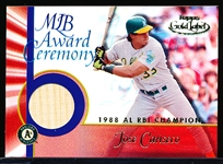 "2001 Topps Gold Label Bsbl. ""MLB Award Ceremony Relic"" #GLR-JC3 Jose Canseco"