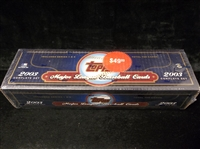 2003 Topps Bsbl.- 1 Factory Sealed Blue Retail Set of 720 Cards