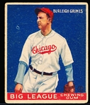 1933 Goudey Bb- #64 Burleigh Grimes, Cubs- Hall of Famer!