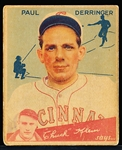 1934 Goudey Bb- #84 Paul Derringer, Reds- Hi#