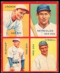 "1935 Goudey ""4 in 1"" Baseball- #6E Red Sox (Bishop/ Cissell/ Cronin/ Reynolds)"