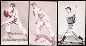 1947-66 Baseball Exhibits- 3 Diff