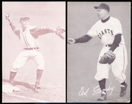 1947-66 Baseball Exhibits- Ed Stanky- 2 Variations