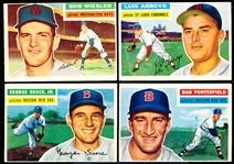 1956 Topps Bb- 4 Diff- Gray Backs