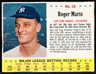 1963 Jello Bb- #16 Roger Maris, Yankees