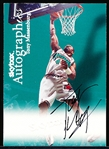 "1999 Skybox Bskt.- ""Autographs""- Tony Massenburg, Grizzlies"