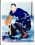 "Johnny Bower Autographed Color 8-1/2"" x 11"" 2nd Generation Maple Leafs Photo"