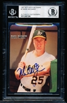 Autographed 1987 Mother's Cookies Bsbl. #2 Mark McGwire- Beckett Certified/ Slabbed
