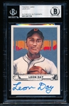 Autographed 1992 Hieronimus & Co. Leon Day Baseball Card- Beckett Certified/ Slabbed