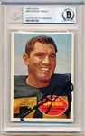 Autographed 1960 Topps Ftbl. #56 Forrest Gregg RC- Beckett Certified/ Slabbed