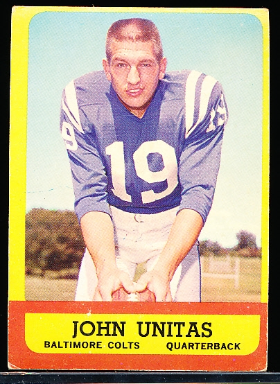 1963 Topps Football- #1 John Unitas, Colts