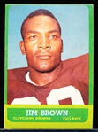 1963 Topps Football- #14 Jim Brown, Browns