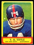 1963 Topps Football- #49 Y.A. Tittle, Giants