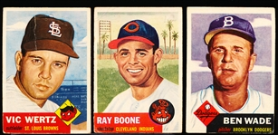 1953 Topps Bb- 3 Diff