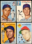 1954 Topps Bb- 4 Diff