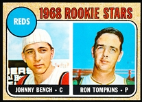 1968 Topps Baseball- #247 Johnny Bench RC, Reds
