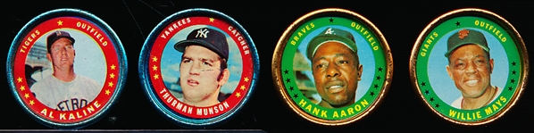 1971 Topps Bb Coins- 4 Diff